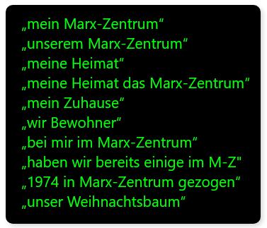 Stalker Irlbeck bezeichnet die Wohnanalge Marx-Zentrum als seine Heimat, sein Zuhause, hat aber nichts mit dem Marx-Zentrum und uns Eigentümern zu tun.