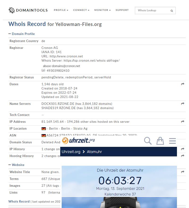 yellowman-files.org ist die rechte Hetzer-Domaine von Irlbeck gegen mich