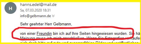 Mail von Hanns-Edel, das Zweite schitzophrene ICH von meinem Stalker Irlbeck