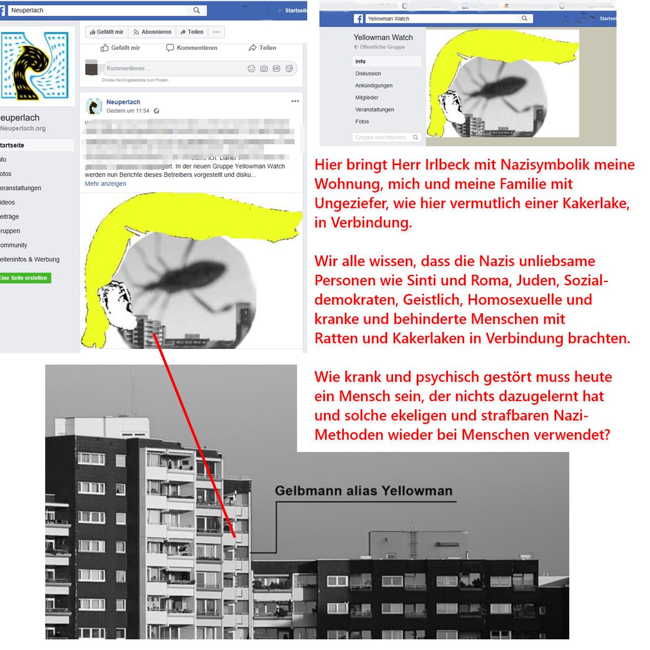 Nazi-Hetze von Irlbeck gegen mich