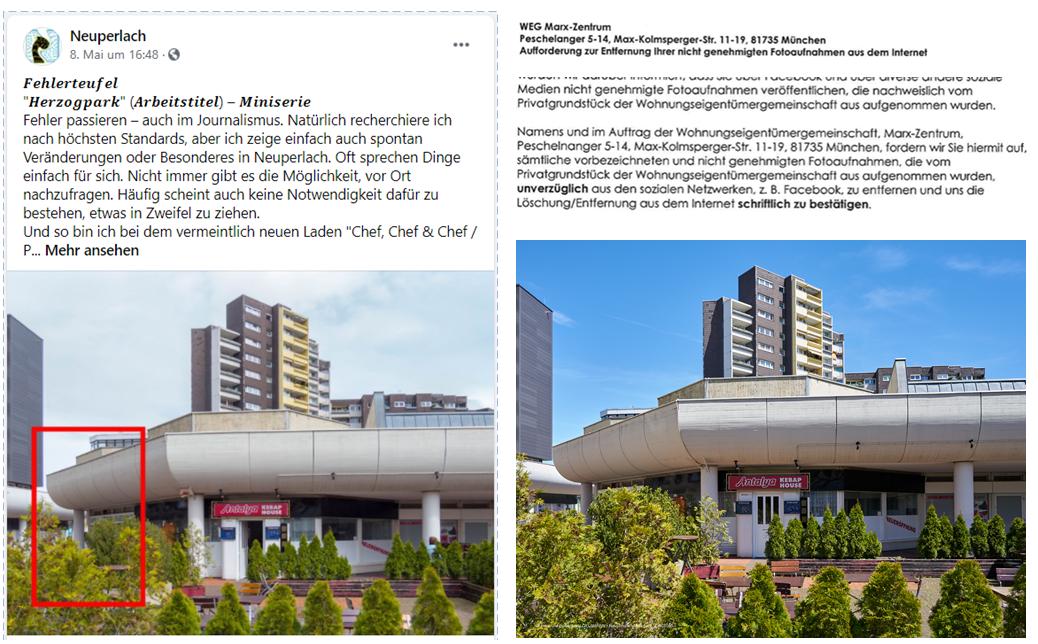 Balkon vom Pflegeheim Phönix mit fotografierten Patienen